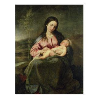 Carte Postale La Vierge et l'enfant