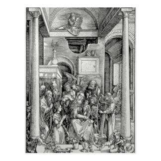 Carte Postale La Vierge et l'enfant avec des saints