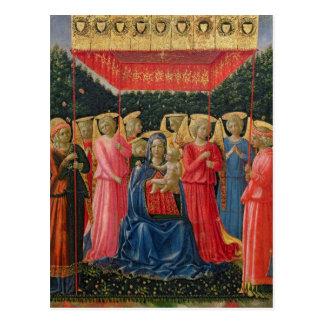 Carte Postale La Vierge et l'enfant avec les anges, c.1440-50