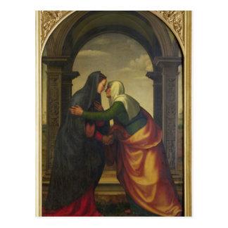 Carte Postale La visite de St Elizabeth à Vierge Marie