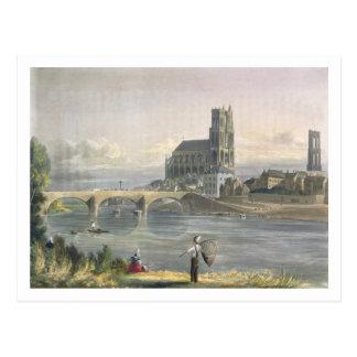 """Carte Postale La vue de Mantes, des """"vues sur la Seine"""", gravent"""