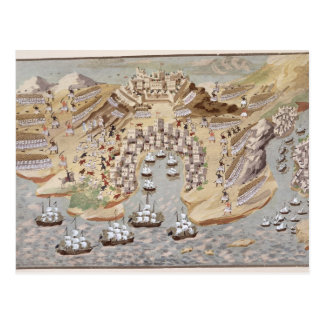 Carte Postale La vue de primevère farineuse de la Grèce