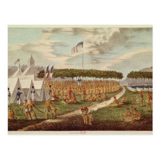 Carte Postale La vue du grand Traité s'est tenue à la prairie du