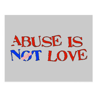 Carte Postale L'abus n'est pas amour