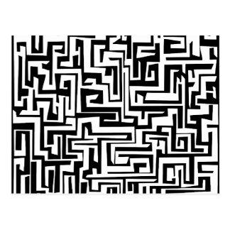 Carte Postale Labyrinthe, conception de labyrinthe