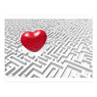 Carte Postale Labyrinthe de coeur