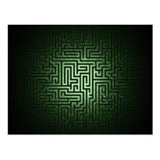 Carte Postale Labyrinthe vert