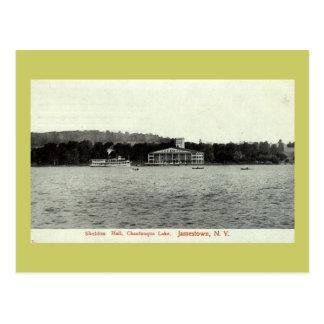 Carte Postale Lac Chautauqua, cru 1909 de Jamestown NY