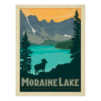 Carte Postale Lac moraine, Alberta Canada
