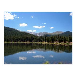 Carte Postale Lac Mt Evans le Colorado echo