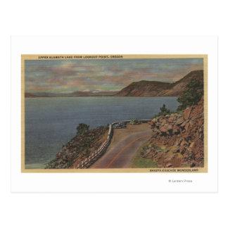 Carte Postale Lac supérieur klamath, Orégon - point de