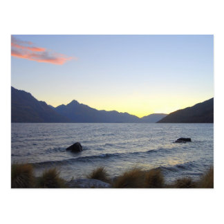 Carte Postale Lac Wakatipu au coucher du soleil, Queenstown, NZ