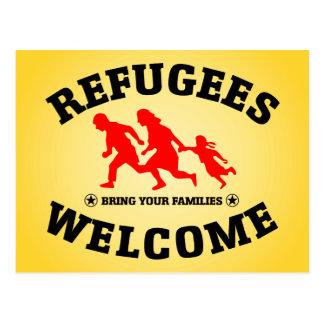 Carte Postale L'accueil de réfugiés amènent votre famille