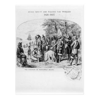 Carte Postale L'achat de l'île de Manhattan, septembre 1626