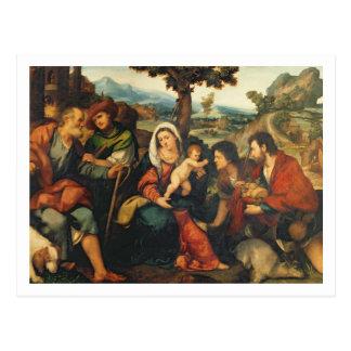 Carte Postale L'adoration des bergers 3