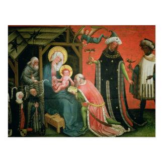 Carte Postale L'adoration des Magi (huile sur le panneau)