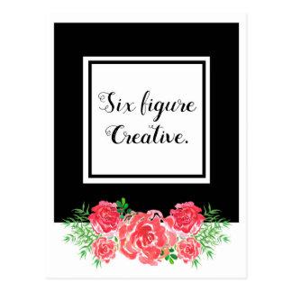 Carte Postale LadyBoss Flowers