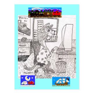 Carte Postale L'agent de voyage