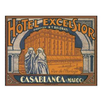 Carte Postale Laine de bois Casablanca (Maroc), cru d'hôtel