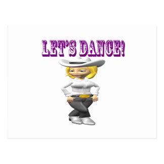 Carte Postale Laisse la danse