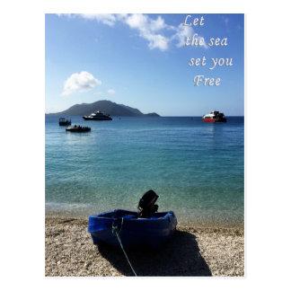 Carte Postale Laissez la mer vous libérer cardent