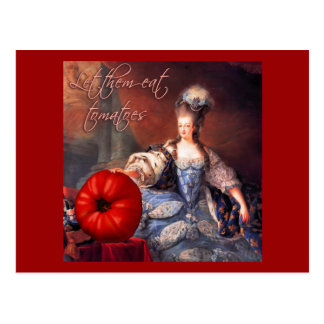 Carte Postale Laissez-les manger des tomates