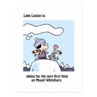 Carte Postale Lake Louise est : bâti de ski Whitehorn
