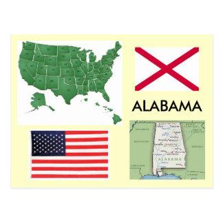 Carte Postale L'Alabama, Etats-Unis