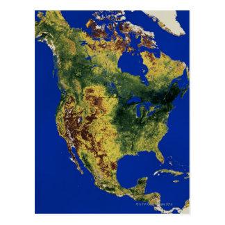 Carte Postale L'Amérique du Nord