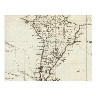 Carte Postale L'Amérique du Sud et les îles adjacentes