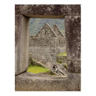 Carte Postale L'Amérique du Sud, Pérou, Machu Picchu. Deux