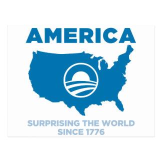 Carte Postale L'Amérique Obama