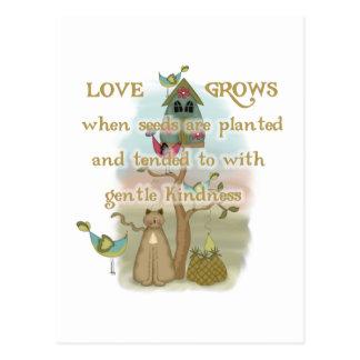 Carte Postale L'amour de jardinage élève des T-shirts et des