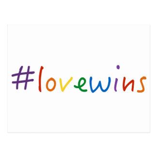 Carte Postale l'amour de #lovewins gagne la fierté d'égalité de