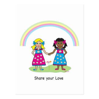 Carte Postale L'AMOUR est l'AMOUR - égalité pour tous