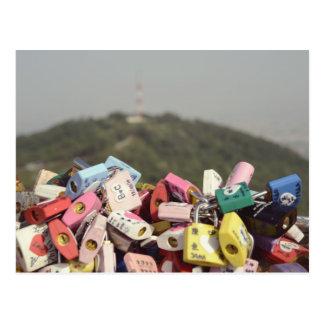 Carte Postale L'amour ferme à clef Séoul
