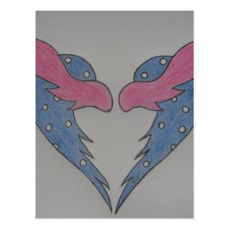 Carte Postale L'amour ont des ailes