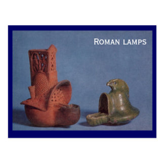 Carte Postale Lampes romaines