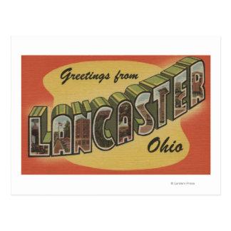 Carte Postale Lancaster, Ohio - grandes scènes de lettre