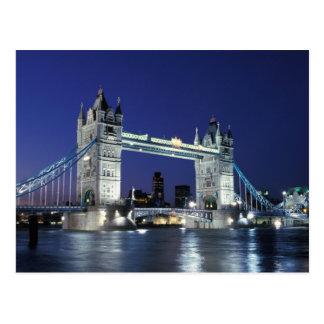 Carte Postale L'Angleterre, Londres, pont 3 de tour