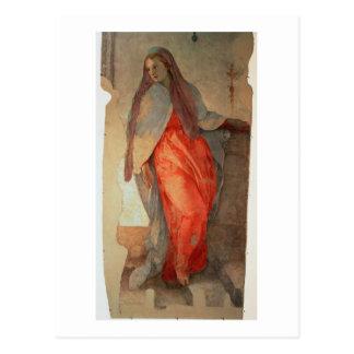 Carte Postale L'annonce, coordonnée de la Vierge, c.1527 (franc