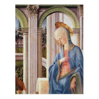 Carte Postale L'annonce, coordonnée de Vierge Marie