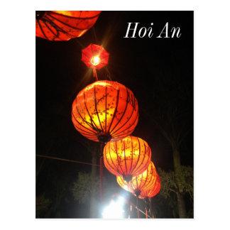 Carte Postale Lanternes dans Hoi