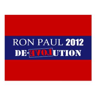 Carte Postale L'anti Président 2012 de Ron Paul De-Évolution