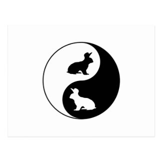 Carte Postale Lapins de Yin Yang