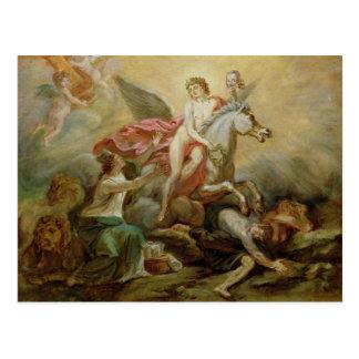 Carte Postale L'apothéose de Voltaire, 1778