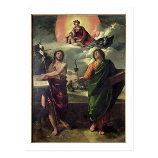Carte Postale L'apparition de la Vierge au Th de John de saints