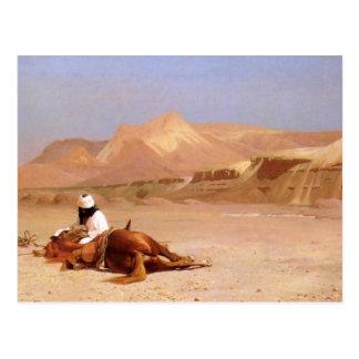 Carte Postale L'Arabe et son coursier
