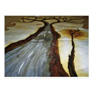 Carte Postale L'arbre de la vie avec la route ce Th de