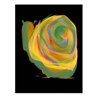 Carte Postale L'arc-en-ciel frotte Rosie la peinture d'escargot
